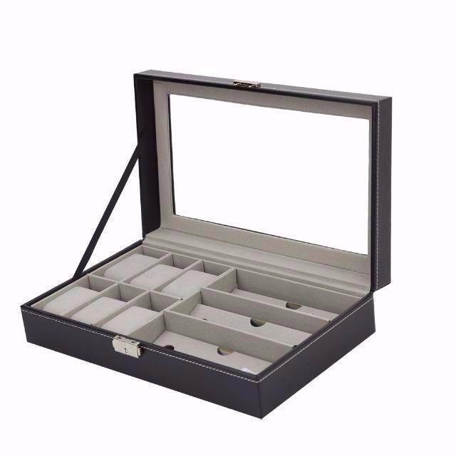 時計&メガネ 収納ボックス 高級感 ウォッチ コレクションケース 腕時計6本 ¥の通販