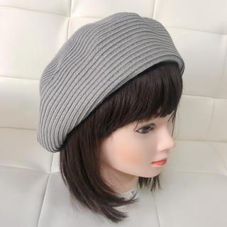 バックナンバー(BACK NUMBER)のライトオン バックナンバー ベレー帽 グレー サイズフリー (ハンチング/ベレー帽)