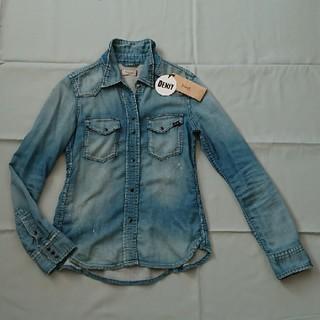 ドゥーズィエムクラス(DEUXIEME CLASSE)のyanukヤヌークデニットシャツジャケットSブルー(デニム/ジーンズ)