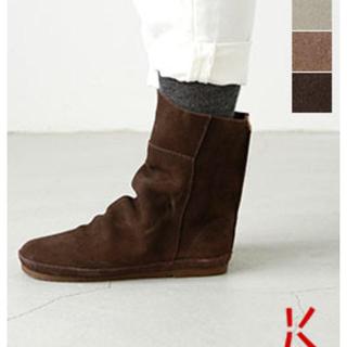コース(KOOS)の新品Koosコース☆スエードショートルーズブーツ bonnie ダークブラウン(ブーツ)