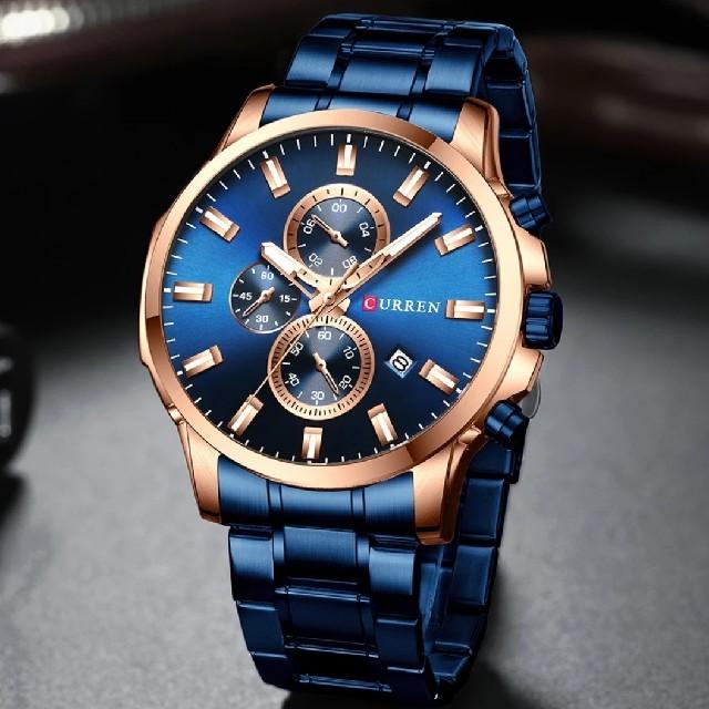 【海外限定品 ラスト1点❗️】早い者勝ち‼  メンズ 高級腕時計 ブルー【新品】の通販