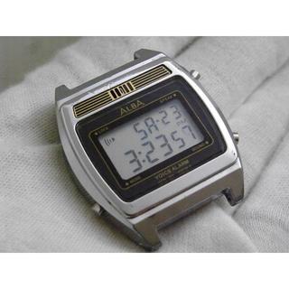 アルバ(ALBA)のALBA トーキングウォッチ レトロ デジタル腕時計(腕時計(デジタル))