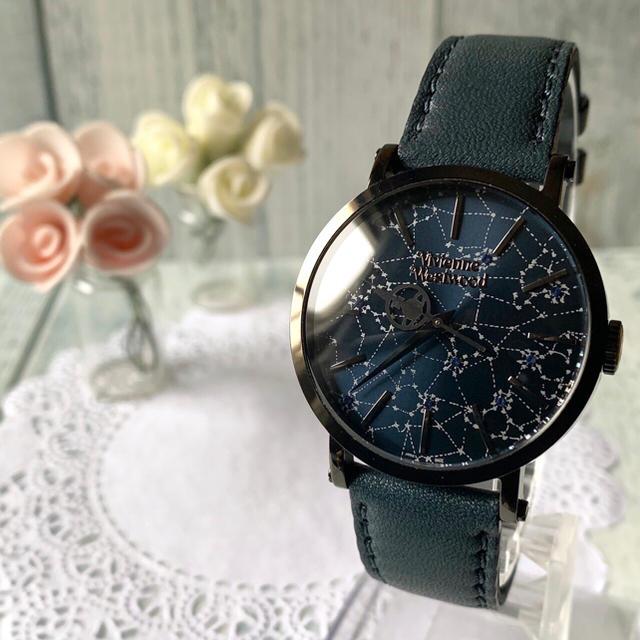 Vivienne Westwood - 【未使用品】 vivienne ヴィヴィアン  腕時計 オーブハンド ネイビーの通販