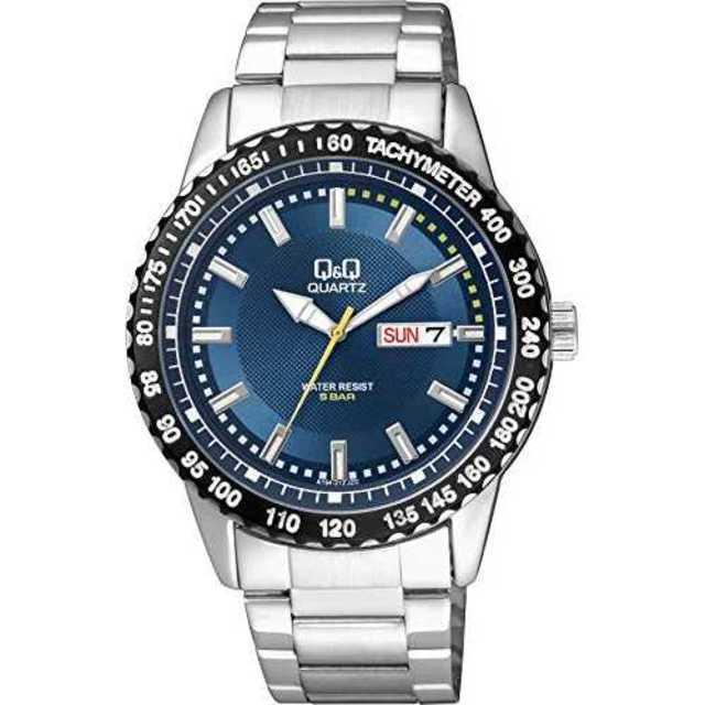 [シチズン Q&Q] 腕時計 A194-212 メンズ シルバーの通販