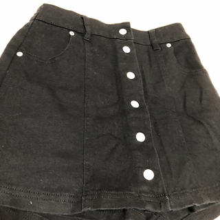 ウィゴー(WEGO)のスカート風ショートパンツ 黒(ショートパンツ)