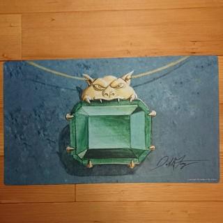 マジックザギャザリング(マジック:ザ・ギャザリング)の最後の1品★Mox Emerald 直筆サイン入りプレイマット(カードサプライ/アクセサリ )