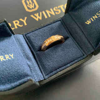 ハリーウィンストン(HARRY WINSTON)のハリーウィンストン HWロゴ ローズゴールドダイヤモンドリング 9号(リング(指輪))