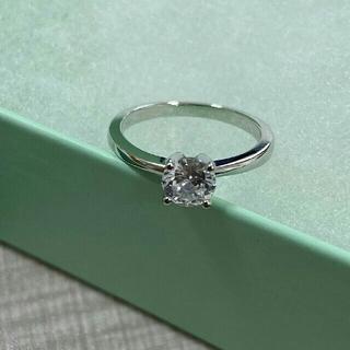 ティファニー(Tiffany & Co.)の極美品 ティファニーTiffany&Co リング指輪 シルバー 刻印Pt950 (リング(指輪))