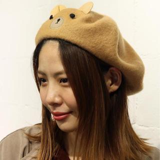 rivet & surge - ★新品★リベットアンドサージ  くま ベレー帽 帽子 キャメル