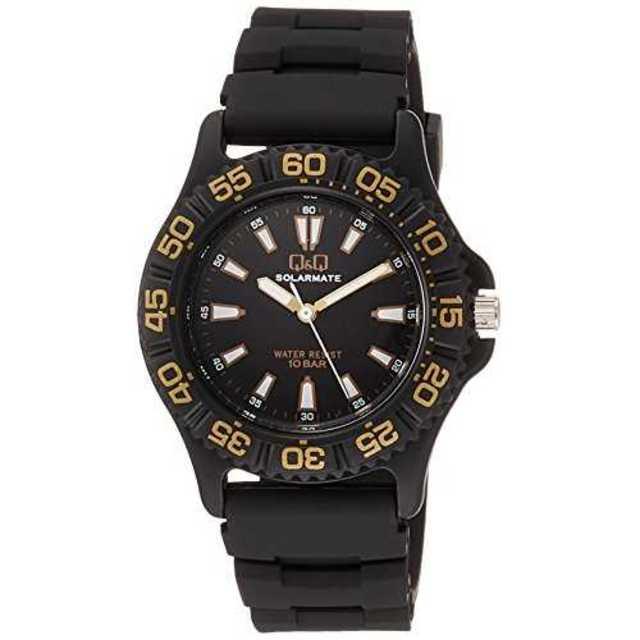 ブラック[シチズン キューアンドキュー]CITIZEN Q&Q 腕時計 ソーラーの通販