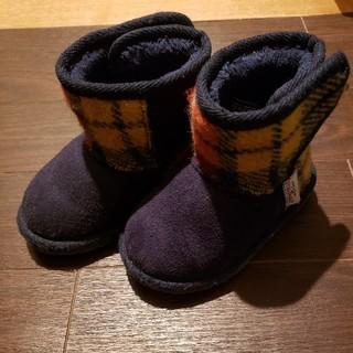 シマムラ(しまむら)のハリスツイード ムートンブーツ 14cm(ブーツ)