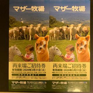【専用です】マザー牧場 招待券(遊園地/テーマパーク)
