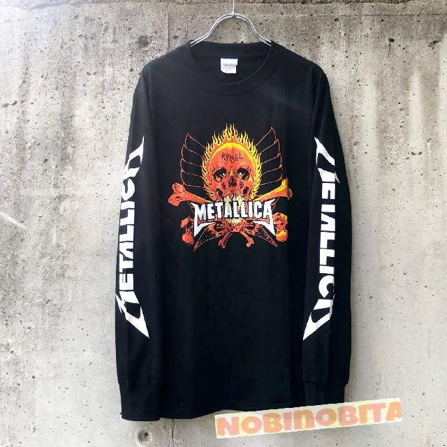 ONE OK ROCK(ワンオクロック)のL◆送料無料 長袖T METALLICA  REBEL ロックTシャツ メンズのトップス(Tシャツ/カットソー(七分/長袖))の商品写真