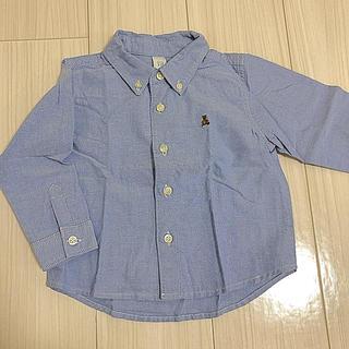 ギャップ(GAP)のGAP*シャンブレーシャツ95サイズ(ブラウス)