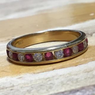 モン様専用❗️✨ルビー&ダイヤモンド リング K18ゴールド 指輪 約16号(リング(指輪))