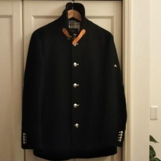 バーバリーブラックレーベル(BURBERRY BLACK LABEL)のLサイズ❗️BURBERバーバリーブラックレーベル羊毛シルバーボタンマリンコート(モッズコート)