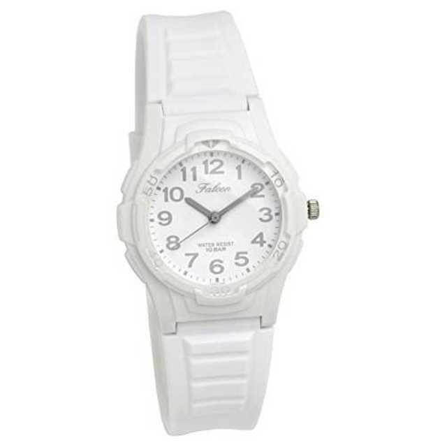 ホワイトシルバーCITIZEN Q&Q 腕時計 ウォッチ ポップカラー 10気圧の通販