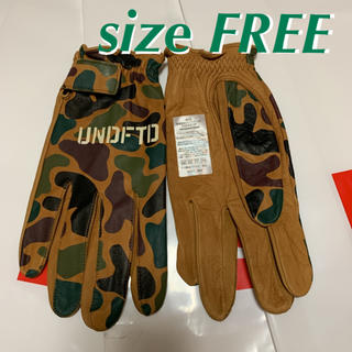 UNDEFEATED leather sand camo grove 手袋