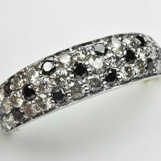 K18WG パヴェ 合計 1.00ct ダイヤモンドリング 12号 指輪  (リング(指輪))