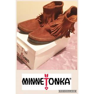 ミネトンカ(Minnetonka)のミネトンカ UR×MINNETONKA ブリッジブーツ ブラウン 8(ブーツ)