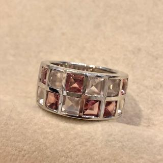 【15号】ルジアダ RUGIADA カラーストーンデザインリング K18ホワイト(リング(指輪))