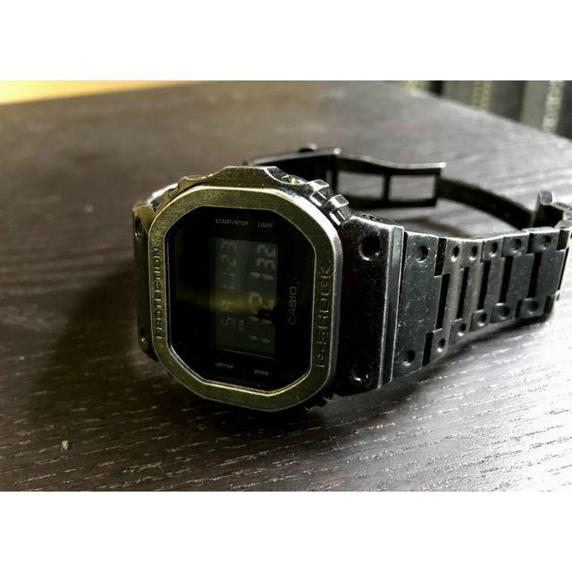 G-SHOCK DW5600BB メタルカスタム ダメージ加工 未使用 送料無料の通販