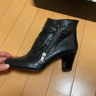PICHE ABAHOUSE - ショートブーツ本革黒 ピシェアバハウス24.5