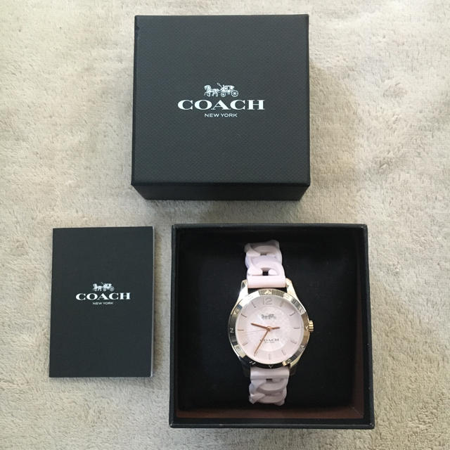 COACH - 未使用 COACH  コーチ ラバー ストラップ  レディース 腕時計の通販
