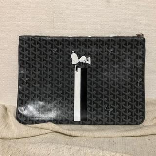 ゴヤール(GOYARD)のゴヤール xスヌーピ セナクラッチGM スペシャルグレー(セカンドバッグ/クラッチバッグ)
