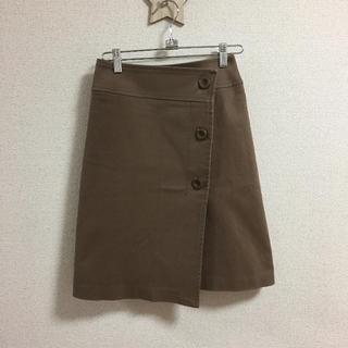 インディヴィ(INDIVI)のINDIVI  インディヴィ ラップスカート(ひざ丈スカート)