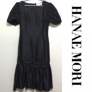 ハナエモリ(HANAE MORI)のハナエモリ ドレス HANAE MORI ワンピース ヴィンテージ 刺繍(ミディアムドレス)