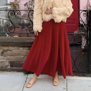 ロキエ(Lochie)のepine ニットロングスカート RED(ロングスカート)