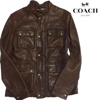 コーチ(COACH)の最高級】COACH コーチ レザージャケット M-65 ミリタリー(レザージャケット)