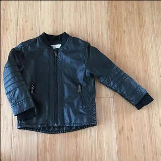 H&M - H&M レザージャケット レザーブルゾン ライダース 98 95 100