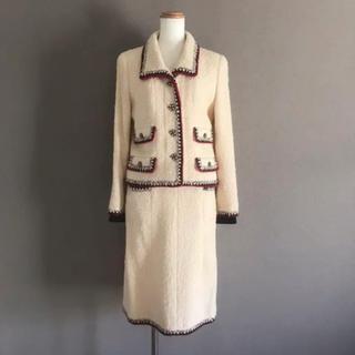 シャネル(CHANEL)の極美品♡ 幻 CHANEL グリポワボタン ツイード ジャケット スカート36(テーラードジャケット)
