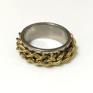 同時購入で300円ステンレス指輪編みゴールド(リング(指輪))