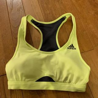 アディダス(adidas)のadidas ブラトップ イエロー(黄緑?)Sサイズ(トレーニング用品)
