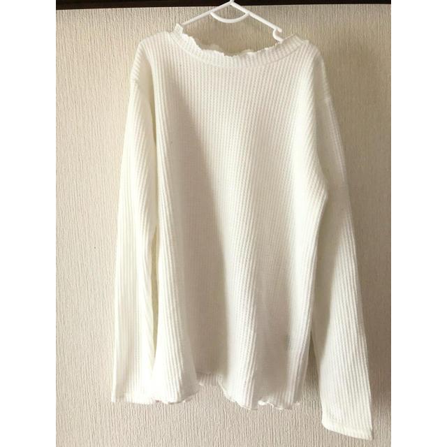 GU(ジーユー)のワッフルシャツ レディースのトップス(Tシャツ(長袖/七分))の商品写真