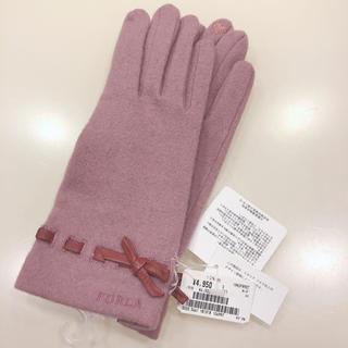 フルラ(Furla)の【新品*タグ付き】FURLA*フルラ*手袋*グローブ*ピンク*リボン*カシミヤ(手袋)