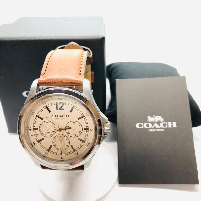 COACH - 未使用 COACH コーチ クオーツ クロノグラフ メンズ腕時計の通販