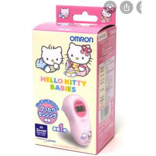 OMRON - 【開封 未使用】耳式体温計 MC-581 ハローキティベイビーズ