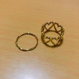 ハートリング2個セット(リング(指輪))