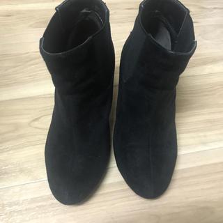スエード ブーツ 黒(ブーツ)