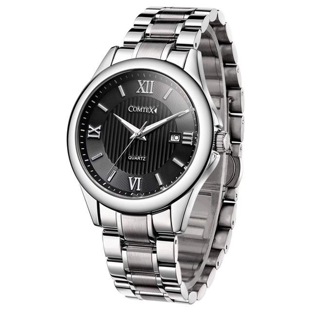 腕時計 ステンレス アナログ おしゃれ 防水 時計 高級 ブラック メンズの通販