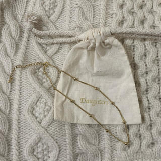 エディットフォールル(EDIT.FOR LULU)のdaughters jewelry ドット ネックレス(ネックレス)
