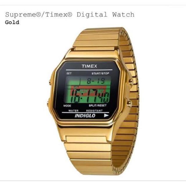 Supreme - Supreme Timex Digital Watch gold タイメックスの通販