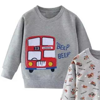 キッズ トレーナー 薄地 長袖 3T グレー(Tシャツ/カットソー)