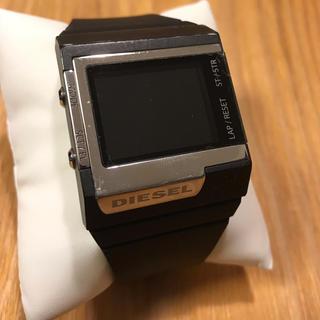 ディーゼル(DIESEL)のディーゼル DZ-7130  デジタルウォッチ 腕時計 ラバーバンド 黒(腕時計(デジタル))
