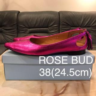 ローズバッド(ROSE BUD)のROSE BUD フラットパンプス バックタッセル 38(ハイヒール/パンプス)
