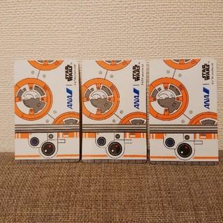 エーエヌエー(ゼンニッポンクウユ)(ANA(全日本空輸))のBB-8 ANA JET 搭乗証明カード 3枚セット(ノベルティグッズ)